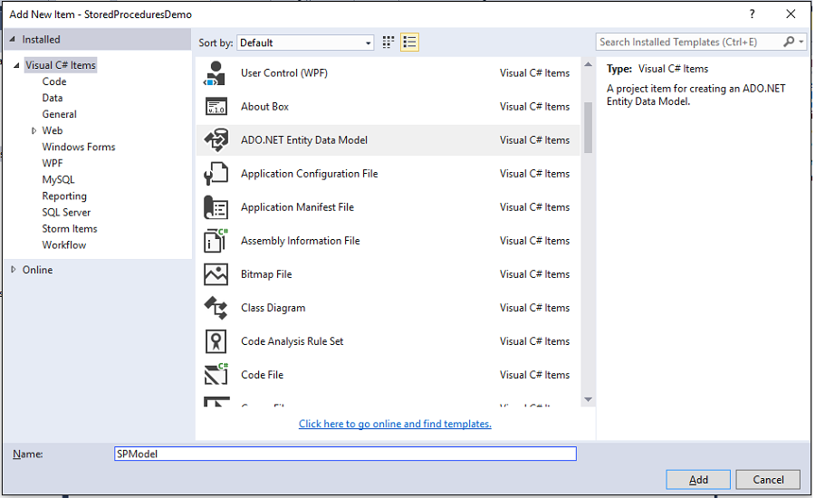Entity Framework - Stored Procedures